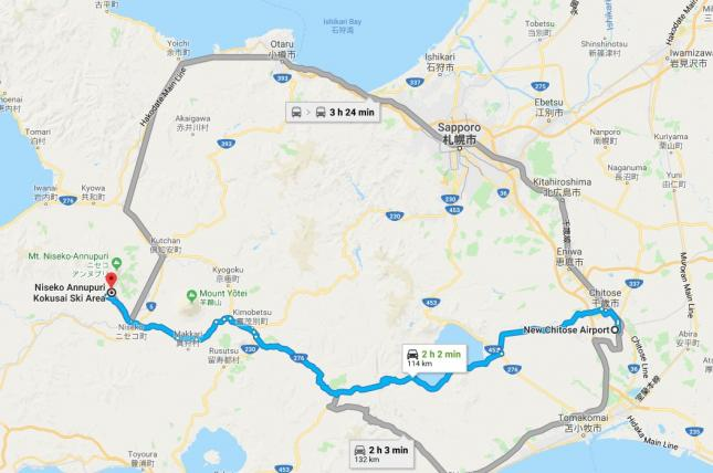Map-of-Airport-to-Niseko